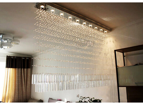 T Best Price Modern k9 crystal led lamp rectangle restaurant messenger wire lamp sitting room partition lamp led ceiling light best price rectangular crystal chandeliers k9 crystal ceiling lamp lighting fixtures restaurant led lighting e14 free shipping