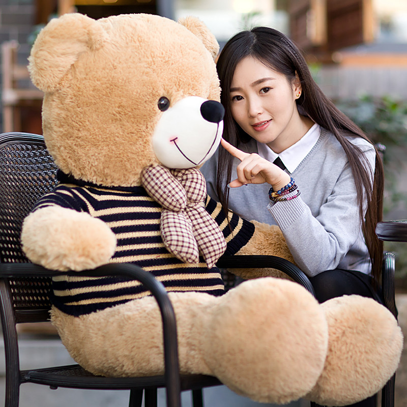 High quality 180cm big giant sweater Tactic plush stuffed toy LLF teddy bear soft bears baby girls doll birthday gift pillow [5colors] llf giant teddy bear soft toy 140cm big stuffed plush animals purple soft hot toys doll baby girls valentine gift
