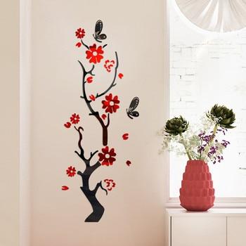 3D Wall Sticker Modern Lotus Non-toxic removable Flower Acrylic Mirror DIY Art Wall Sticker Mural Decal Creative Home Decor 8