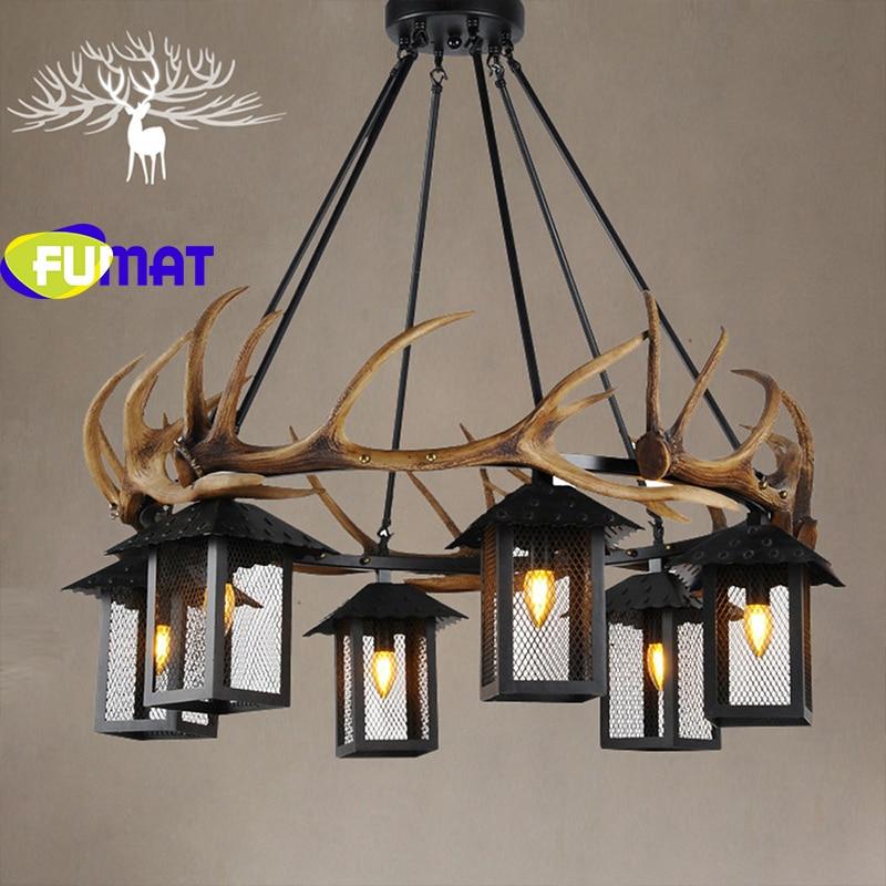 FUMAT Antlers Resin Chandelier Lamp Modern LED Antler Chandelier Lustre Chandeliers Vintage led lights Novelty Lighting E14