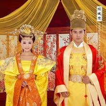 2012 СЗПП восточный костюм роскошный золотой Дэтянь любителей