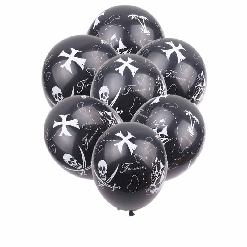 XXPWJ   New 10pcs/lot Pirate LaTeX Balloon Children's Festival Party Decoration Toys High Quality     Z-082