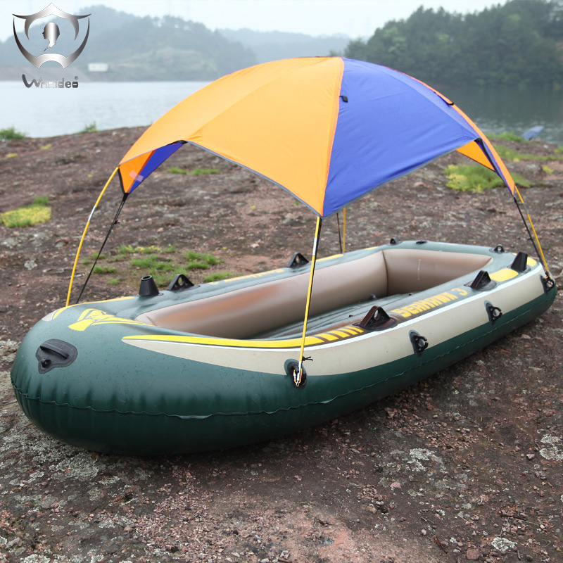 Foldable canopy for inflatable boatand camping sun shelter for Campsites with fishing