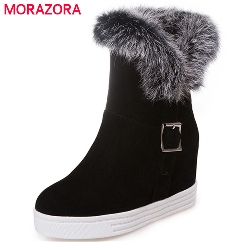 MORAZORA 2018 Keep warm snow boots for women winter boots fashion comfortable ankle boots platform shoes woman big size 34-43