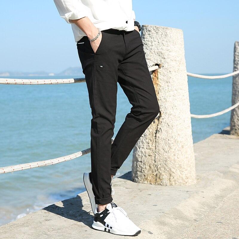 Casual Men Cotton Slim Fit Chinos Pants 3