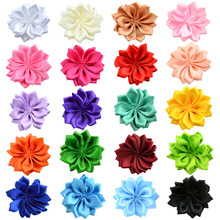 Nishine 16 20pcslot 16 Petaled Rosette Satin Ribbon Flowers Used for Kids Adult Headband Hair Clips Diy Hair Accessories