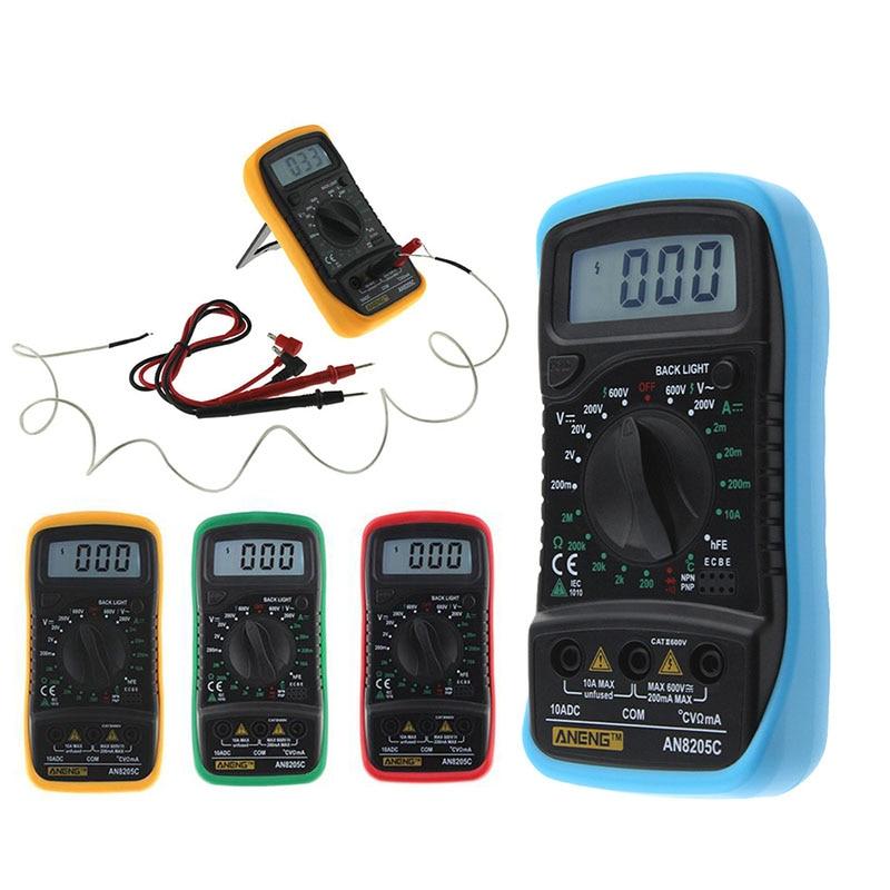 Neue Ankunft AN8205C Thermometrie Digital-Multimeter Voltmeter Amperemeter AC DC OHM Volt Tester Test Temperatur Messer Werkzeug (32621) HR