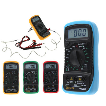 New Arrival AN8205C Thermometry Digital Multimeter Voltmeter Ammeter AC DC OHM Volt Tester Test Temperature gauge (32621) HR telephony