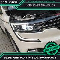 Высокое качество! Hid светодиодные фары hid грыжи лампы аксессуар продукты Чехол для Renault Koleos 2017 2018 стайлинга автомобилей