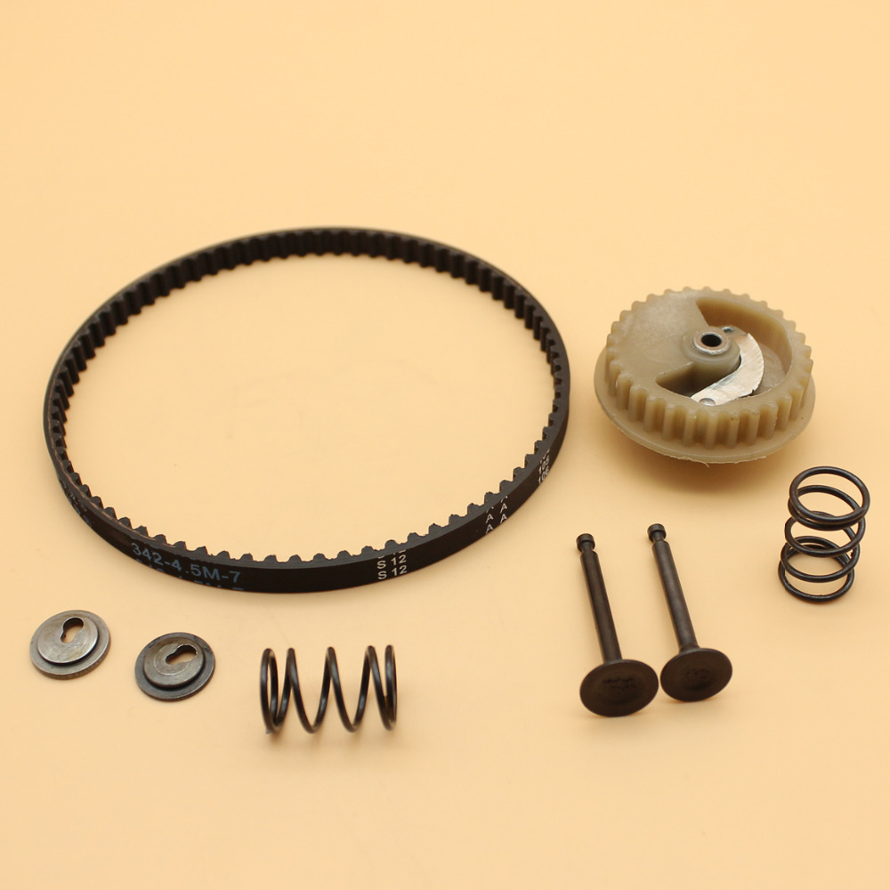 Cam Shaft Pulley Gear Wheel Valve Spring Retainer Timing Belt Kit For Honda GX35 GX 35 Gasoline Engine Motor Trimmer LawnmowerCam Shaft Pulley Gear Wheel Valve Spring Retainer Timing Belt Kit For Honda GX35 GX 35 Gasoline Engine Motor Trimmer Lawnmower