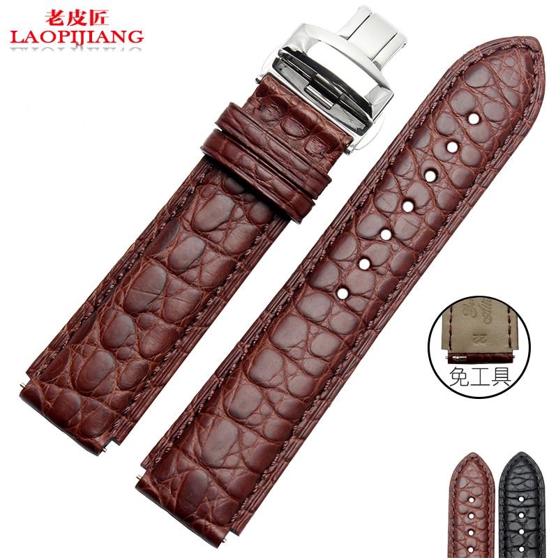 купить laopijiang  HUAWEI HUAWEI watch watch with butterfly Alligator Crocodile men22*18MM Black недорого