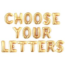 16 inch Gold Silver Rose custom foil letter balloon for wedding birthday party decoration supplies