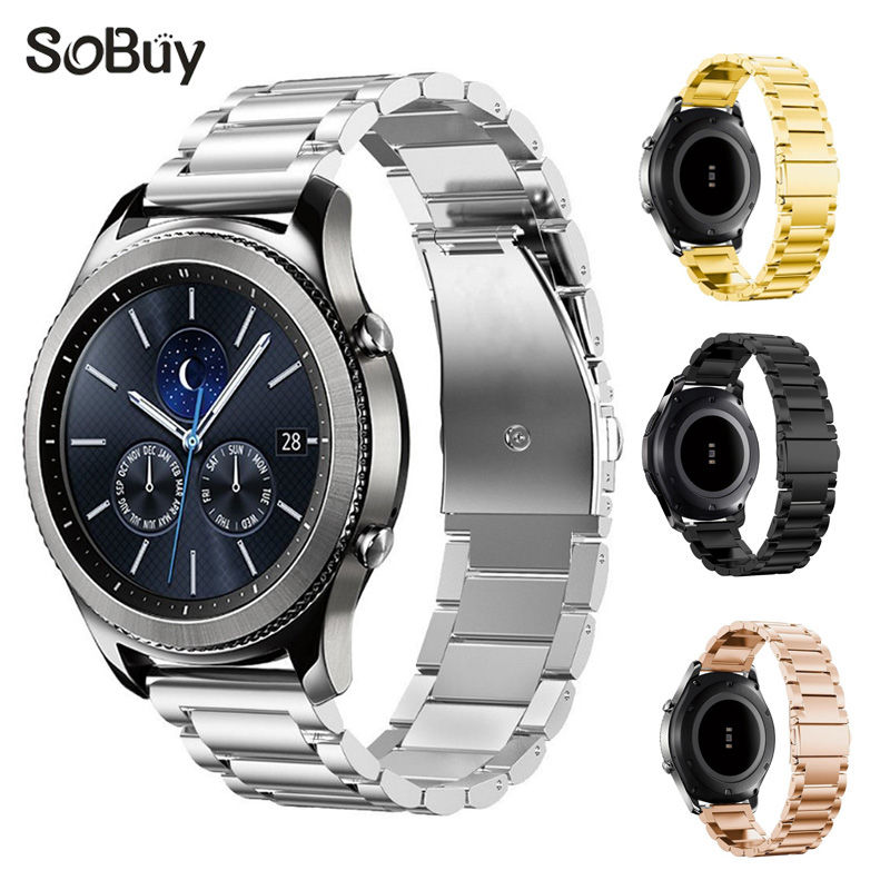 Lxsmart for Samsung s3 watch band stainless steel bracelet Samsung Gear S3 metal bracelet Wrist bands Classic Smart Watch strap iw 8758g 3 men s and women s quartz watch fabric classic canterbury stainless steel watch with multi color striped band
