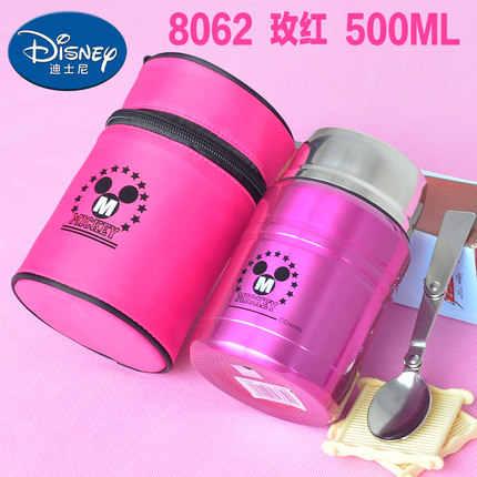 Disney чашка из нержавеющей стали Студенческая детская коробка с теплозащитой 500 мл с ложкой школьная бутылка для воды для детей 2019