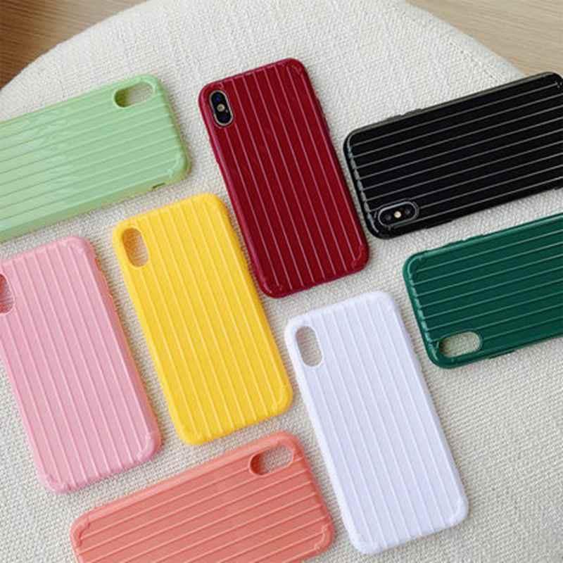 Funda de silicona de Color sólido Linda funda de teléfono Lisa para iPhone 8 7 Plus 6 6s 10 X XR XS MAX proteger suave TPU Funda