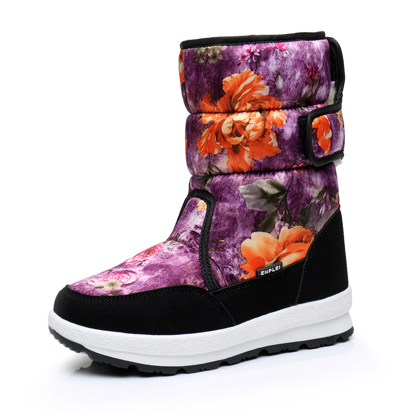 Boys and girls autumn winter wool 2017 cotton new children ski boots cotton shoes anti slip warm fringed soft bottom fall and winter girls boots knitted wool boots elastic cotton cloth boots