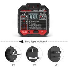 цена на HABOTEST Advanced RCD Electric Socket Tester Automatic Earth Wire Testing Circuit Polarity Detector Wall Plug Breaker Finder UK