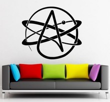 Atheism Religion Science Atoms Chemistry wall sticker home decor Vinyl Wall Decal Wallpaper 56X58CM