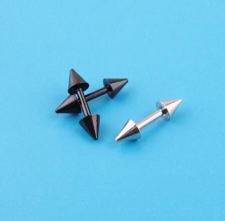 1 Pair K-pop TVXQ hero Men or Women Stud earrings Double-pointed silver and black color ear bone earrings