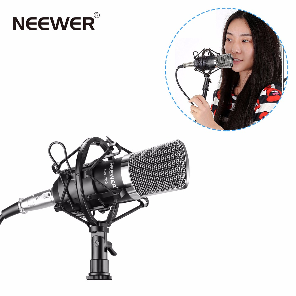 Neewer NW-700 Professional Studio Broadcasting & Recording Condenser Microphone Set Including: Microphone + Shock Mount + Cable