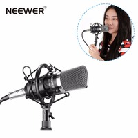 Neewer NW 700 Professional Studio Broadcasting & Recording Condenser Microphone Set Including: Microphone + Shock Mount + Cable