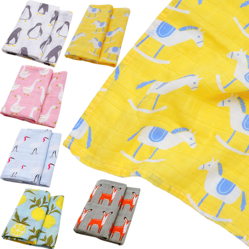 60*60 Organic Cotton Baby Blankets Newborn Photography Baby Wrap Swaddle Baby Bibs Bandana Multi-use Scarf Foulard Baby Stuff