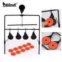 WoSporT 5 Plate Reset Schiebscheiben Taktische Metall Stahl Shooting Target for Airsoft Paintball Practice Outdoor & Indoor