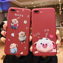 For iPhone X XR XS Max Cases Cute Best Pig Soft TPU Silicone Shell For iPhone 6 6S 7 8 Plus Cover Capa Coque Mobile Phone Case цена и фото