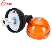 1Pcs Car Warning Light LED Rotating Flashing Amber Beacon Flexible Tractor Warning Light 12V 24V For