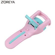 Zoreya Brand Top quality Lady delicate pink curler eyelash curlers Curl eye shadow makeup applicators for Beauty Tools