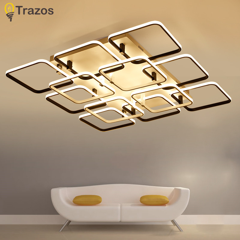 Modern LED ceiling lamp fixture Remote control lighting for ceiling lights acrylic lamp shades for lighting living room lamp remote control modern led ceiling lights for living room bedroom study room ceiling lamp acrylic home deco lighting fixture