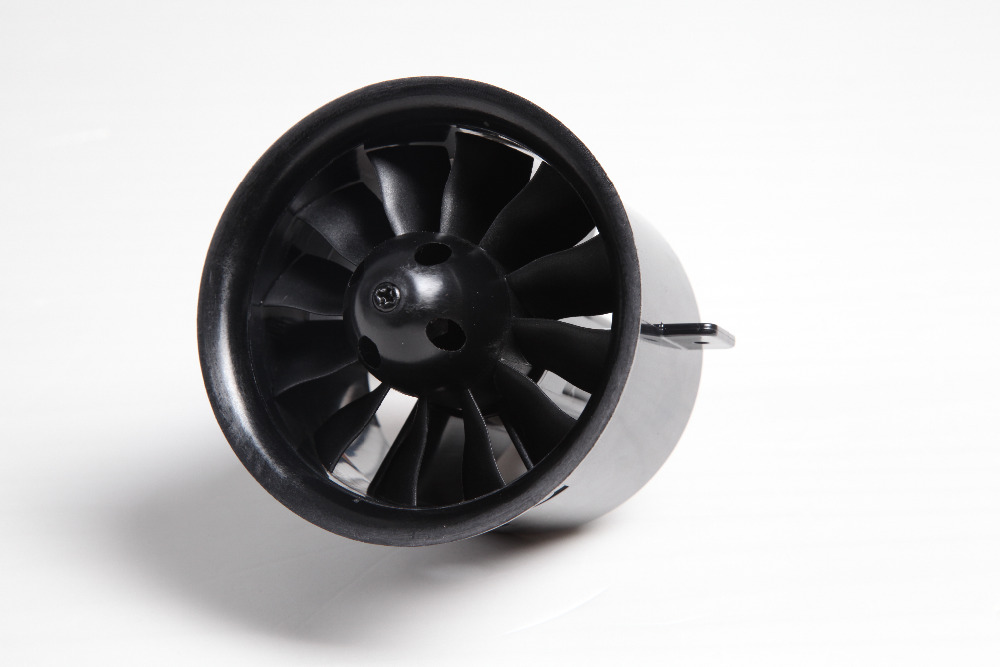 FMS 70mm 12 Blades Ducted Fan EDF Unit With In-runner 2860 KV1850 Motor 6S version For RC Airplane Model Plane Parts fms 70mm 12 blades v2 ducted fan edf unit with 2860 kv1850 2845 kv2750 brushless motor