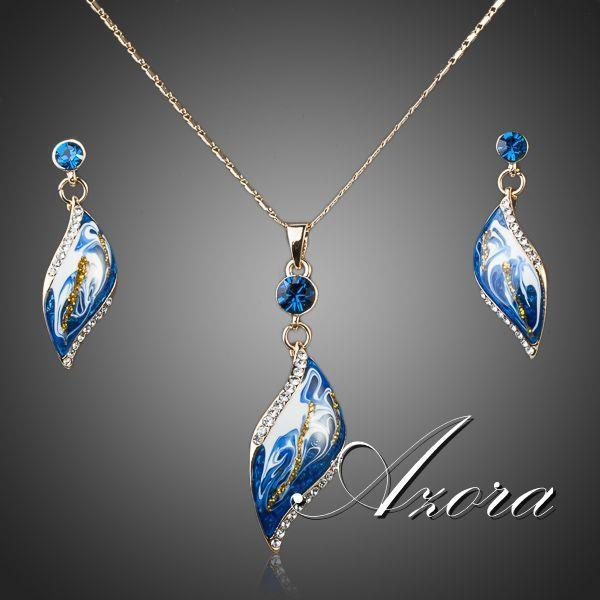 Oil Painting Pattern Jewelry Set