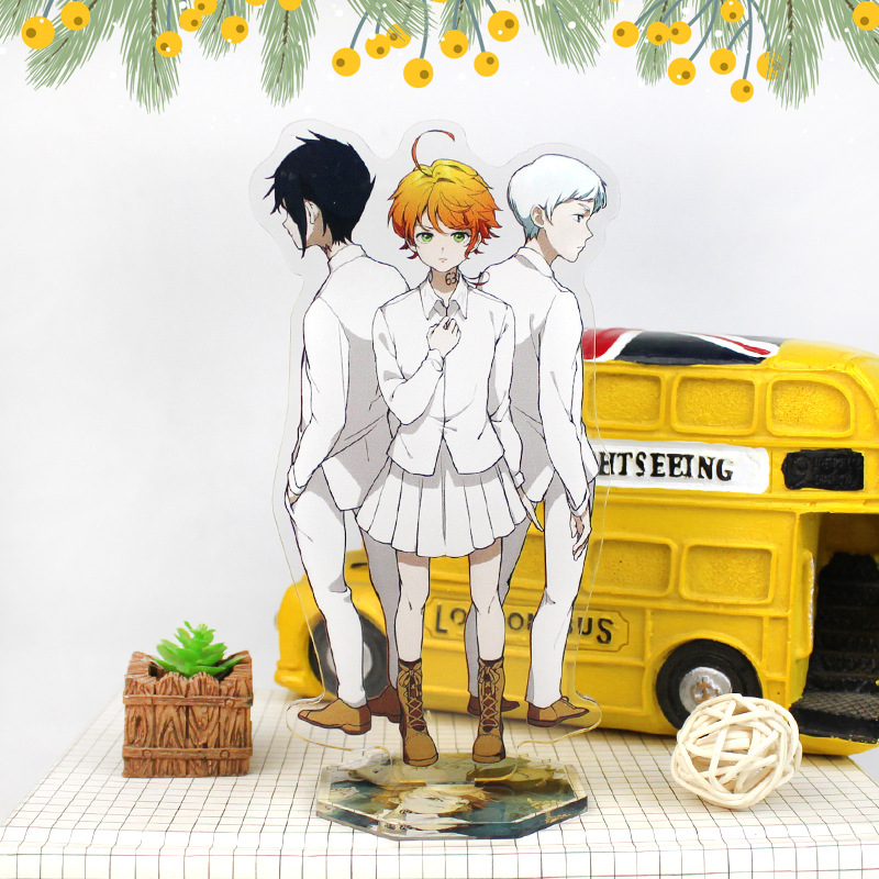 Anime The Promised Neverland Display Stand Figure Model Plate Holder Japanese Cartoon Figure Collection Jewelry Christmas Gift