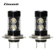2 шт. H7 светодиодный повышенной яркости противотуманная фара светодиодный фары лампы DC12V 10SMD 50 Вт DRL Вождения фары, аксессуары для автомобиля