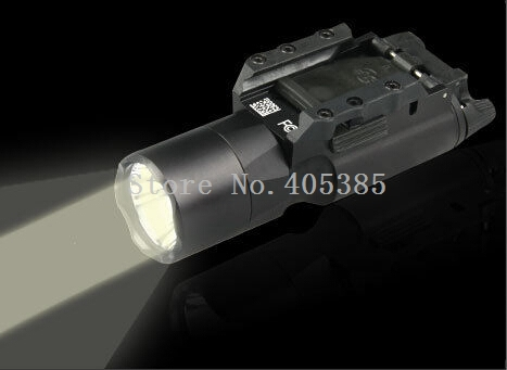 ФОТО Pro Tactical LED Pistol M4 Rifle Flashlight X300 Lanterna Ultra Weapon White Light 500 lumens Gun Parts For Hunting Shooting