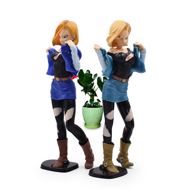 2 Styles Anime <font><b>Dragon</b></font> <font><b>Ball</b></font> Z Android 18 Lazuli Action <font><b>Figure</b></font> PVC <font><b>Sexy</b></font> Girl Collectible Model Christmas Gift Toys For Children image
