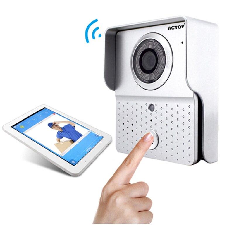 Sans fil Wifi porte cloche caméra interphone vidéo porte téléphone sonnette Via contrôle de téléphone intelligent