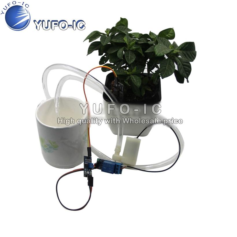 Автоматический заливной насос для полива цветов автоматический ирригационный модуль DIY Набор Обнаружение влажности почвы автоматический полив насосный x 0.18|Интегральные схемы|   | АлиЭкспресс
