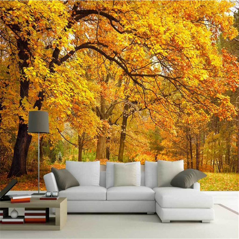 custom any size modern 3d photo high quality non-woven wallpaper 3d murals fantasy autumn forest background wall  home decor free shipping borges suspended large scale non woven paper art wallpaper murals custom size