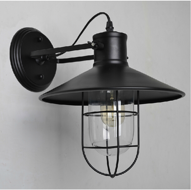 Free shipping American Loft Industrial Wall Lamps Vintage RH Loft Bedside Wall Light Edison bulb Wall Lamp For Bar Cafe computer acc water cooling flow meter pom 2 ways g1 4 port female to female flow meter indicator for pc water cooling system