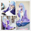 peruca hair queen cosplay Wholesale& heat resistant LY >>>No Game No Life Shiro 100cm Anime Cosplay Costume Wig 5.24