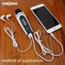 Micrófono para móvil/ios/android/iphone/teléfono móvil/pc usb 3.5mm interfaz dúo para estudio record, micrófono de condensador MC-919A