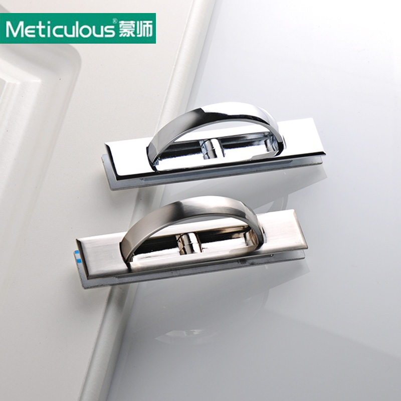 Meticulous Furniture hidden Recessed Flush Pull Cover floor cabinet brush and bright chrome Handle Tatami Door Knob,need slotted