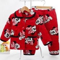 autumn/winter children's sleepwear set baby boy and girl sleep clothing set kids Pajamas set fit for 85cm to 155cm height 842
