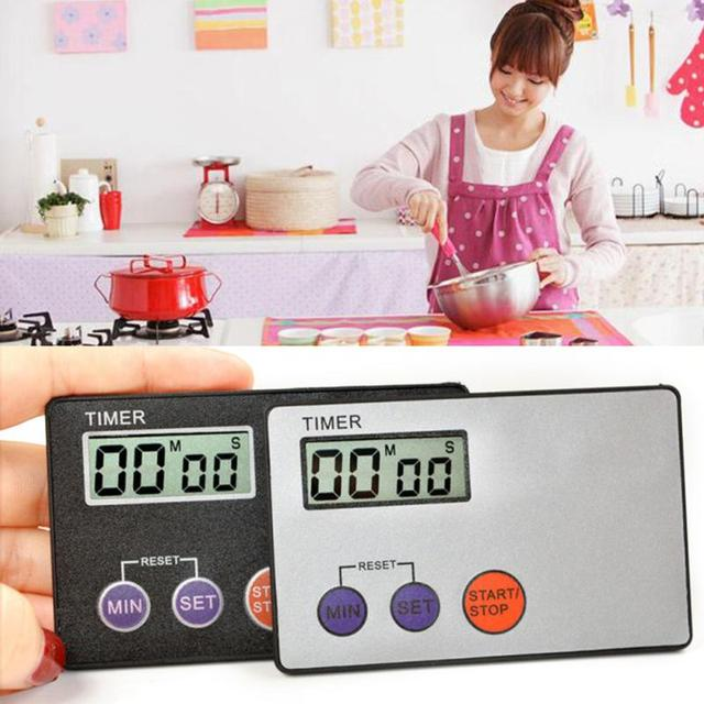 square kitchen clock timer cooking 99 minute digital lcd countdown