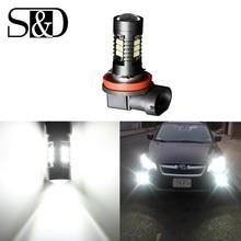 1200Lm H11 светодио дный фары автомобиля авто светодио дный лампы 3030 белый Габаритные огни DRL противотуманных фар 6000 К 12 В-24 В светодио дный s дальнего