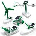 Новый Более DIY 6 В 1 Образования Обучение Власти Солнечный Робот Комплект лодка DIY Солнечной энергии вентилятор собака