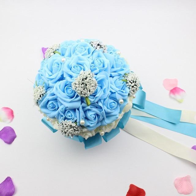 Bridal Wedding Bouquet Handmade PE Roses buque de noiva wedding flowers bridal bouquets pristian zouboutin 5 colors