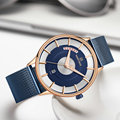 NAVIFORCE Роскошные Брендовые мужские часы 2019 ультра тонкие кварцевые часы для мужчин с синим сетчатым ремешком водонепроницаемые наручные час...
